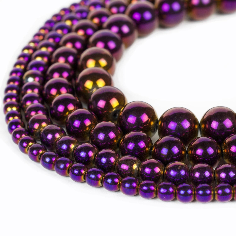 Aliexpress.com : Buy Top quality Natural Stone Black ...  |Hematite Beads