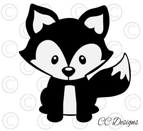 Cute Woodland Baby Fox Svg Cut File Svg Vinyl Designs