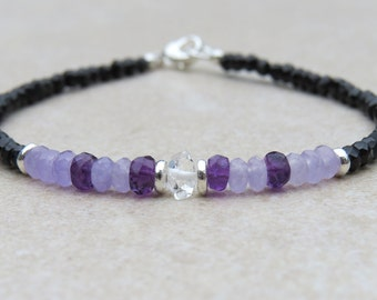 Shades of Lilac and Spinel Bracelet