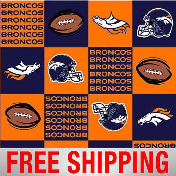 Fleece Fabric Denver Broncos NFL Anti Pill 60 Wide Free