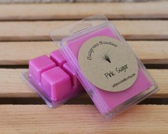 Pink Sugar Wax Melts - Soy Blend Wax - Wax Cubes - Wax Tarts - Hand Poured - Gift Idea