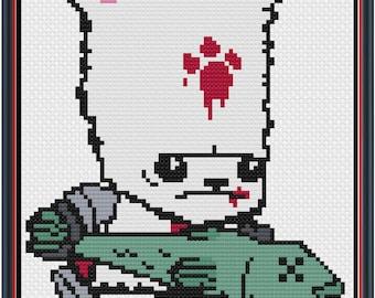 Castle Crashers Bear Character Cross Stitch Pattern