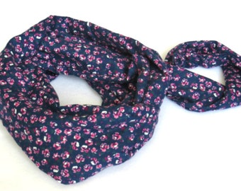 Mother's Day gift - Mommy and Me Scarves - Navy Blue Floral Scarves - Floral Mommy and me scarf