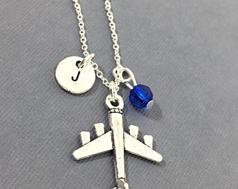 Plane Necklace, Airplane Gift Necklace, Airplane Pendant, Plane necklace, Flight Attendant Gift, Pilot, Air Force Gift, Boys Gift, Airplane,