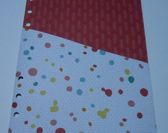A5 Planner Pocket cut from Double Sided Paper