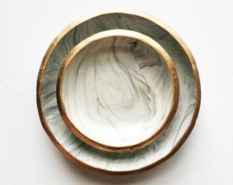 SMOKE // Polymer Clay Jewelry Dish, Ring Dish, Trinket Dish, Ring Holder