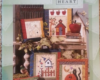 Calendar Quilts & Stitcheries by Nancy Halvorsen - Art to Heart - Seasonal - Primitive Quilt Applique Pattern book - Pillows - Sampler