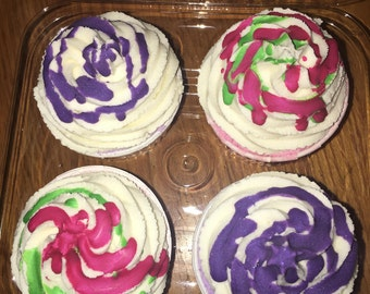 Bath Bomb Cupcakes 4-Pack Fruity