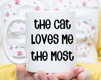Cat Mom Coffee Mug, Cat Dad Mug, Gift for Dad from Cat, Cat Lovers Gift, Christmas Gift for Dad, Christmas Gift for Mom, I Love My Cat Gift