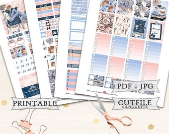 Planner Girl Planner Stickers/Printable Planner Stickers/Erin Condren Planner Stickers/Printable Planner Girl Stickers/Printable Weekly kit