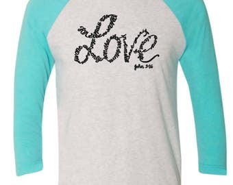 For god so loved the world raglan shirt, Loved world raglan shirt, For god so loved the world, For god loved raglan shirt,loved world raglan