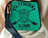 Slytherin Purse - Harry Potter Tote - Hogwarts Messenger Bag - Books - Nerd - Geek - The Boy Who Lived - OOAK - Custom Made