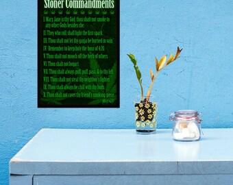 The Stoner Commandments - 11x17 Poster