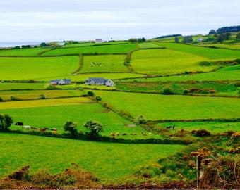 Irish Countryside Print, Ireland Photography, Fine Art Photography, Beautiful Wall Art, Green Wall Decor, Irish Landscape - Soft Irish Sea