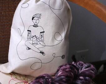 Punk Knitter- Yarn bag