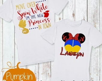 Disney Shirt/First Trip to Disney/Going To Disneyworld/Snow White Shirt/Snow White/Girl Disney Shirt/New Princess in Town