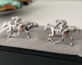 Race Horse CuffLinks - Ideal gift or Wedding Best Man Present - Horse Lover Gift