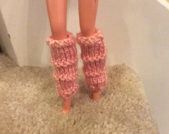 Pink Legwarmers for Barbie Dolls