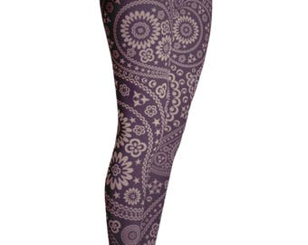 Paisley Leggings - Yoga Leggings - Patterned Leggings - Print Leggings - Womens Leggings - Childrens Leggings - Yoga Shorts