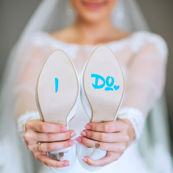 Something Blue for Bride - I Do Sticker Wedding Decals - Bride to Be - Shoe Sticker - I Do Shoe Sticker - Wedding Sticker - Shoe Decal