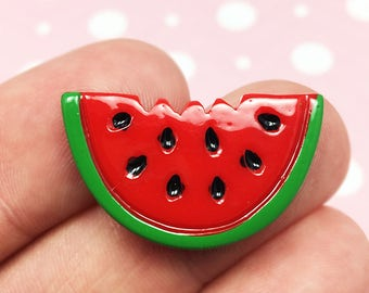 Watermelon Kawaii Resin Flat back, Fruit, Summer, Food (R004)