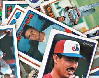 1988-1989 Baseball cards sets of 45, Vintage Baseball cards, Sports cards, Sport gift, Topps cards, MLB gift, Scores MLB, Montreal Expos
