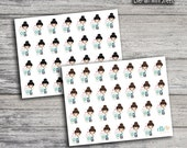 Coffee Girl Icon Stickers (Glossy & Matte)