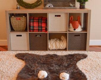 Animal Rug / Bear Rug / woodland nursery / Baby bear room decor / animal playmat  / ClaraLoo