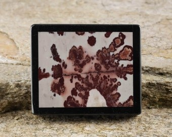 4.25cm PICTURE JASPER Pendant or Jasper Bead for Jewelry Making or Wire Wrapped Jewelry - Natural Jasper Stone Inlay J804