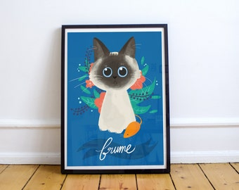 Portrait custom and personalized your cat (digital)