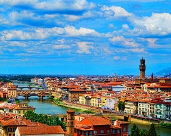 Florence italy photo, Italy photo, Ponte Vecchio photo, Italy landscape photos, Italy fine art, Wall Art, Italy wall art,