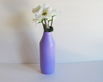 Lavender Vase, Beautiful Lavender Milk Jug Vase, Large Lavender Vase, Milk Jug Vase, Purple Vase, Large Flower Vase, Ceramic Vase