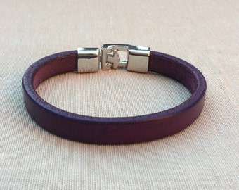 Leather Bracelet, leather bracelet, bracelet in purple, bracelet for men, Bangle