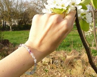 Nymphea, fluorite and silver bracelet