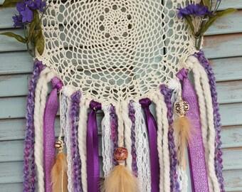 Purple Boho Dream Catcher// boho//wedding decor//baby shower//home decor//