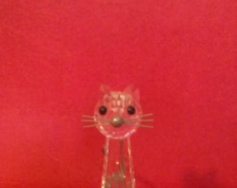 Swarovski crystal cat.