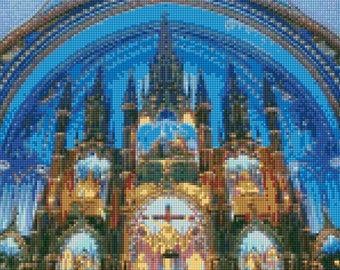 Notre Dame de Paris Cathedral Altar Cross Stitch pattern PDF - Instant Download!