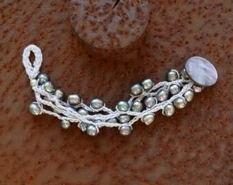 Bracelet Pearl crochet