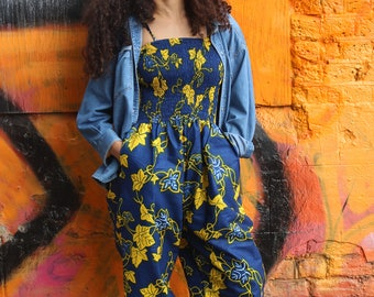 African Jumpsuit- African Clothing - Wax Print Romper - Colourful and Comfy - Festival Jumpsuit - Festival Clothing - African Playsuit