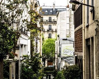 Paris Street Photography - Urban Decor - Shabby Chic - Montmarte - Street Photography - Fine Art Photography  - Urban Paris - 0022