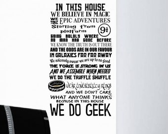 Wall decal sticker. We do geek