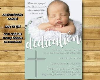 Baby Dedication Invitation, Baptism Invitation Boy, Baptism Invitation Girl, Christening Invitation, Printable, Digital Download 5x7