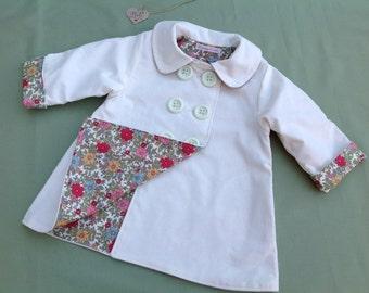 Girls Coat, Girls Corduroy Coat, Baby Coat, Toddler Coat, double breasted coat, girls jacket, baby jacket, baby gift,