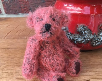 Handmade Artist Miniature Teddy Bear, Dolly, by Fran's Bears 5 inches (13 cm) OOAK