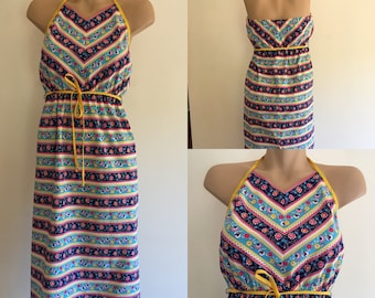Vintage floral halter neck sundress