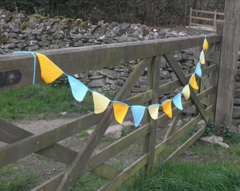 Hand crocheted bunting, ideal for festivals, carnivals or adorning your campervan