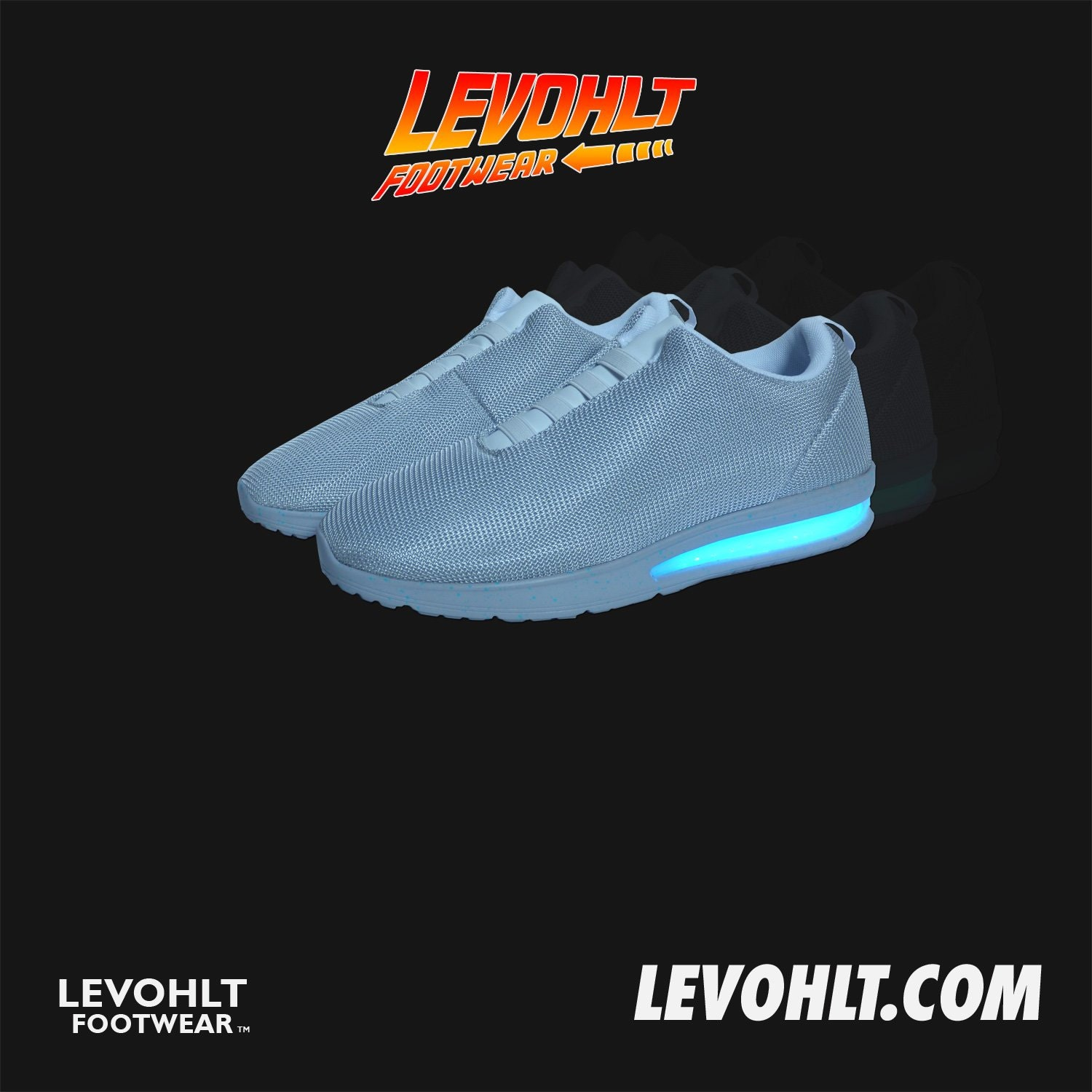 Cheap nike air mag china - Levohlt Lowtop Led Sneaker Back From The Future Nike Air Mag Style Light Up Shoes 80s 7 Colour Modes Usb Rechargeable