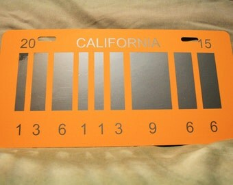 """2015 Barcode License Plate Replica - inspired by """"Back to the Future 2"""""""