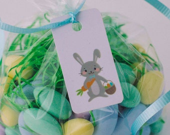 Easter gift tags 3 tags personalized easter basket tag easter basket tags 3 tags personalized easter basket tag easter bunny bag negle Choice Image