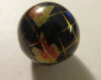 Lapis Global Multi Gemstone World Bead, 25mm
